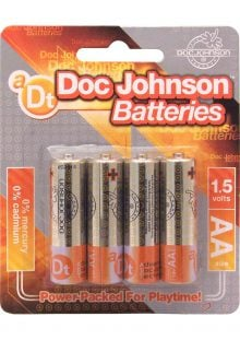 Doc Johnson AA Batteries 4 Pack