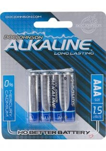 Doc Johnson AAA 4 Pack Alkaline Battery