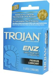Trojan Enz Lubricated 3`s