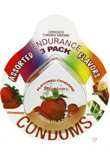 Assorted Flavors Endurance Condom 3 Pack