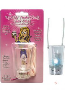 Hanging Light Up Shot Glass Clear