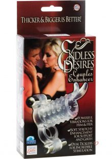 Endless Desires Couples Enhancer With Removable Bullets 4.25 Inch Clear