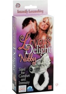 Lovers Delight Nubby With Removable 3 Speed Stimulator Clear