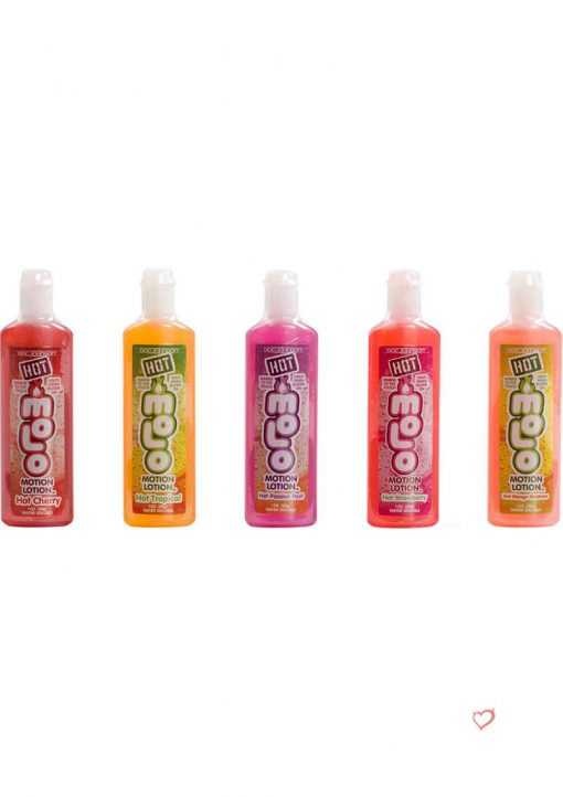 Hot Motion Lotion Flavored Water Based 1 Ounce Assorted 5 Per Pack
