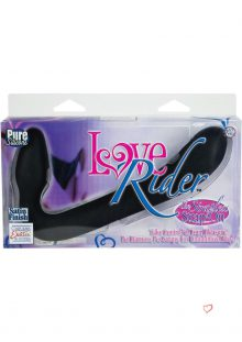 Love Rider The Strapless Strap On Silicone Black Wateproof