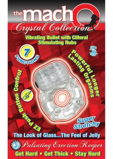The Macho Crystal Collection Pulsating Erection Keeper 7 Function Waterproof Clear