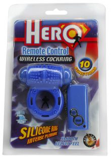 Hero Remote Control Wireless Cockring Waterproof Blue