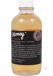 Honey Oil Flavored All Natural Body Oil 4 Ounce