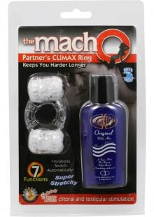 The Macho Partners Climax Cock Ring Waterproof Clear