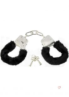 Sex And Mischief Furry Handcuffs Black
