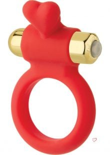 Wonderland The Heavenly Heart Silicone C-Ring Waterproof Red