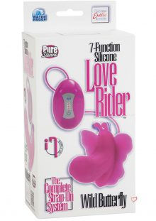 7 Function Silicone Love Rider Wild Butterfly Strap-on Waterproof Pink