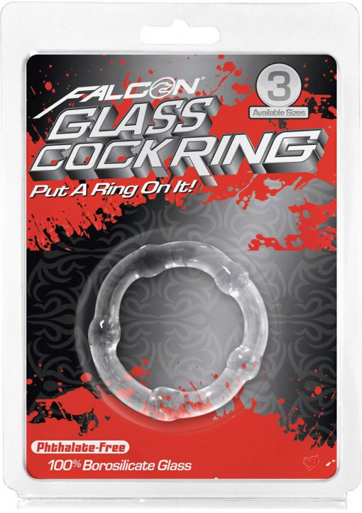 Falcon Glass Cockring Clear 1.57 Inch Diameter