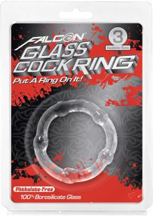 Falcon Glass Cockring Clear 1.77 Inch Diameter