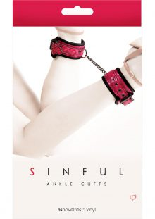 Sinful Ankle Cuffs Pink Adjustable