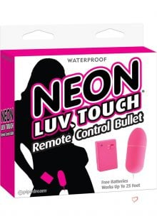 Neon Luv Touch Romote Control Bullet Waterproof Pink