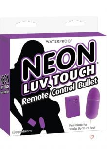 Neon Luv Touch Romote Control Bullet Waterproof Purple