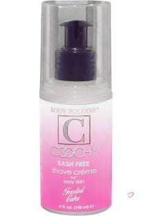 Body Boudoir Coochy Rash Free Shave Creme Frosted Cake 4 Ounce