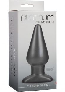 Platinum Premium Silicone The Super Big End Large Anal Butt Plug Charcoal
