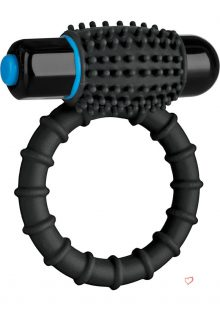 Optimale Silicone Vibrating C-Ring Waterproof Black