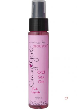 Crazy Girl Oral Sex Gel Pink Cupcake 2.2 Ounce