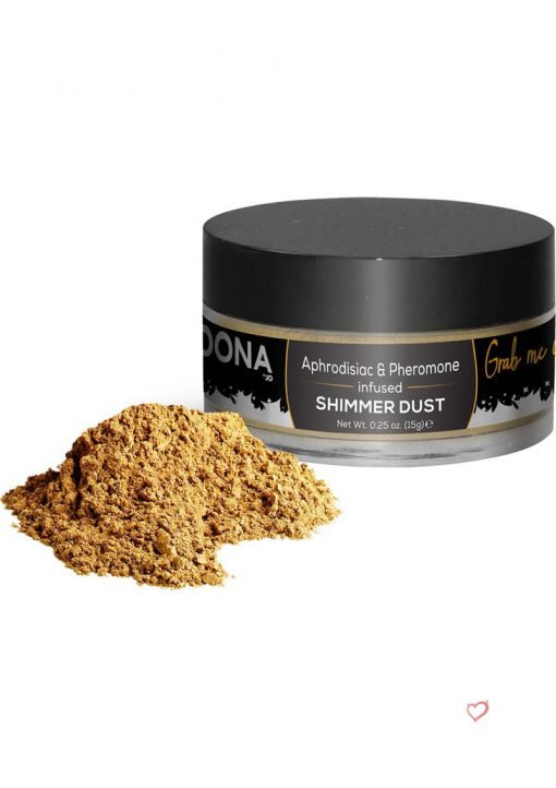 Dona Aphrodisiac and Pheromone Infused Shimmer Dust Gold .25 Ounce