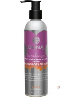 Dona Aphrodisiac and Pheromone Infused Massage Lotion Sassy Tropical Tease 8 Ounce