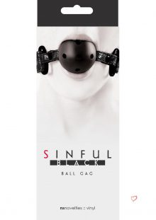 Sinful Black Ball Gag
