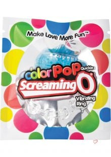 Color Pop Quickie Screaming O Vibrating Ring Silicone Cockring Blue
