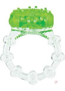 Color Pop Quickie Screaming O Vibrating Ring Silicone Cockring Green