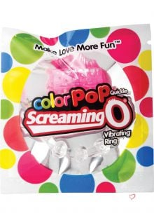 Color Pop Quickie Screaming O Vibrating Ring Silicone Cockring Pink