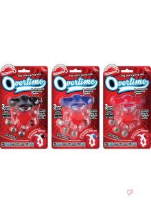 Screaming O Overtime Silicone Vibrating Cockring Waterproof Assorted Colors 6 Each Per Case