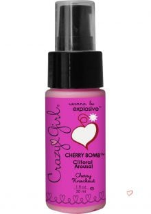 Crazy Girl Cherry Bomb Clitoral Arousal Cream Cherry Knockout 1 Ounce