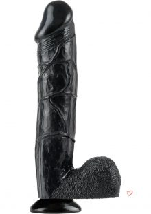 Bonnie Rotten Big Black Cock Dildo Waterproof Black 12 Inch