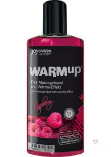 Warm Up Flavored Massage Oil Raspberry 5.07 Ounce