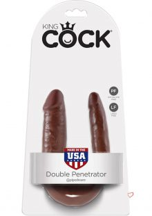 King Cock U-Shaped Small Double Trouble Brown