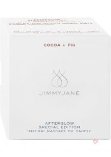 JimmyJane Afterglow Special Edition Natural Massage Oil Candle Cocoa And Fig 4.5 Ounce