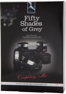Fifty Shades Of Grey Completely His Elesticated Bed Spreader Set Restraints