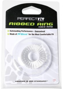 Perfect Fit Ribbed Ring Cock Ring Clear