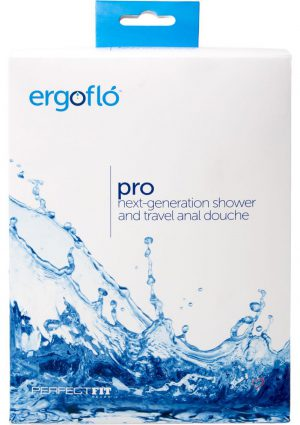 Perfect Fit Ergoflo Pro Shower And Travel Silicone Anal Douche Kit Black