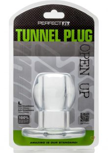 Perfect Fit Anal Tunnel Plug Clear Large 7.9 Inch Circumference
