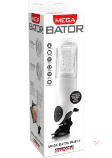 Pipedream Extreme Mega Bator Pussy Rechargeable Hands Free Stroker Masturbator Waterproof White