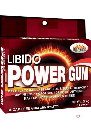 Libido Power Gum Enhancement Sugar Free With Xylitol 16 Pieces Per Pack