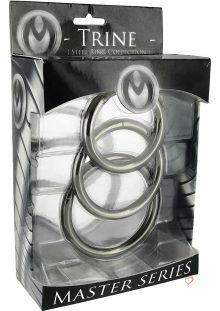 Master Series Trine Steel Ring Collection 3 Each Per Set