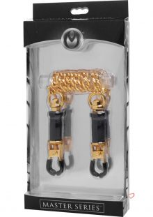 Master Series Capture Clamps Brass Barrel Clamps With Chain 12 Inch