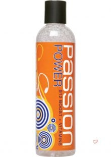 Passion Power B12 Boost Plus Vitamins Water Based Lubricant 9.25 Ounce