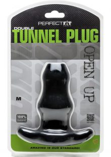 Perfect Fit Double Tunnel Plug Black Medium