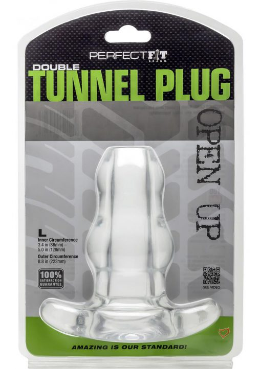 Perfect Fit Double Tunnel Plug Large Clear 5 Inch