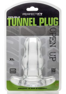 Perfect Fit Double Tunnel Plug Clear XL