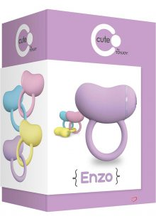 Cute Enzo Silicone Couples Ring Waterproof Purple